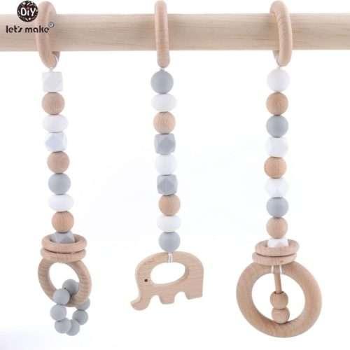 Đồ chơi Montessori dây treo hình voi