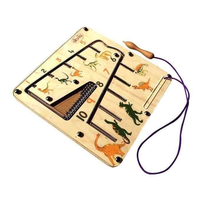 Đồ chơi montessori mê cung khung long