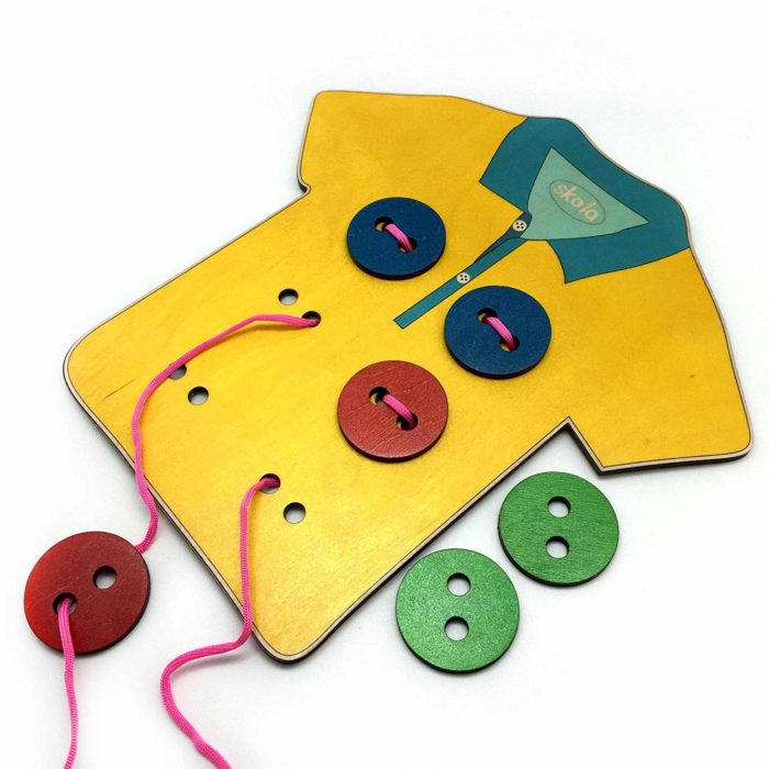 Đồ chơi Montessori may nút áo
