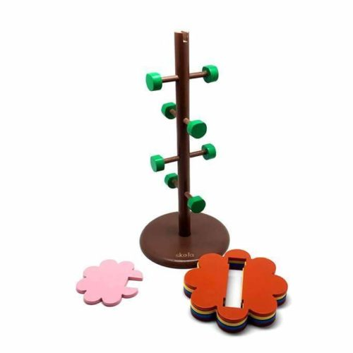 Đồ chơi Montessori xoắn hình hoa