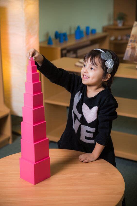lĩnh vực cảm quan trong phương pháp Montessori