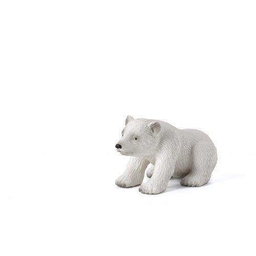 mô hình gấu trắng con ngồi