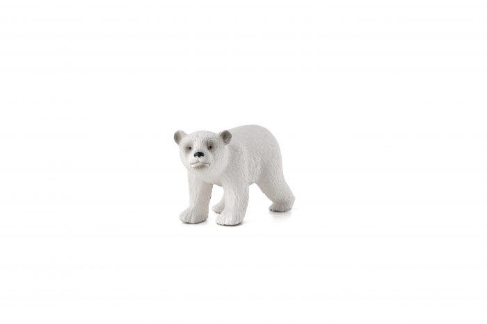 mô hình gấu trắng con đi