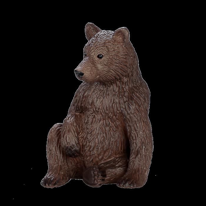 mô hình gấu xám con